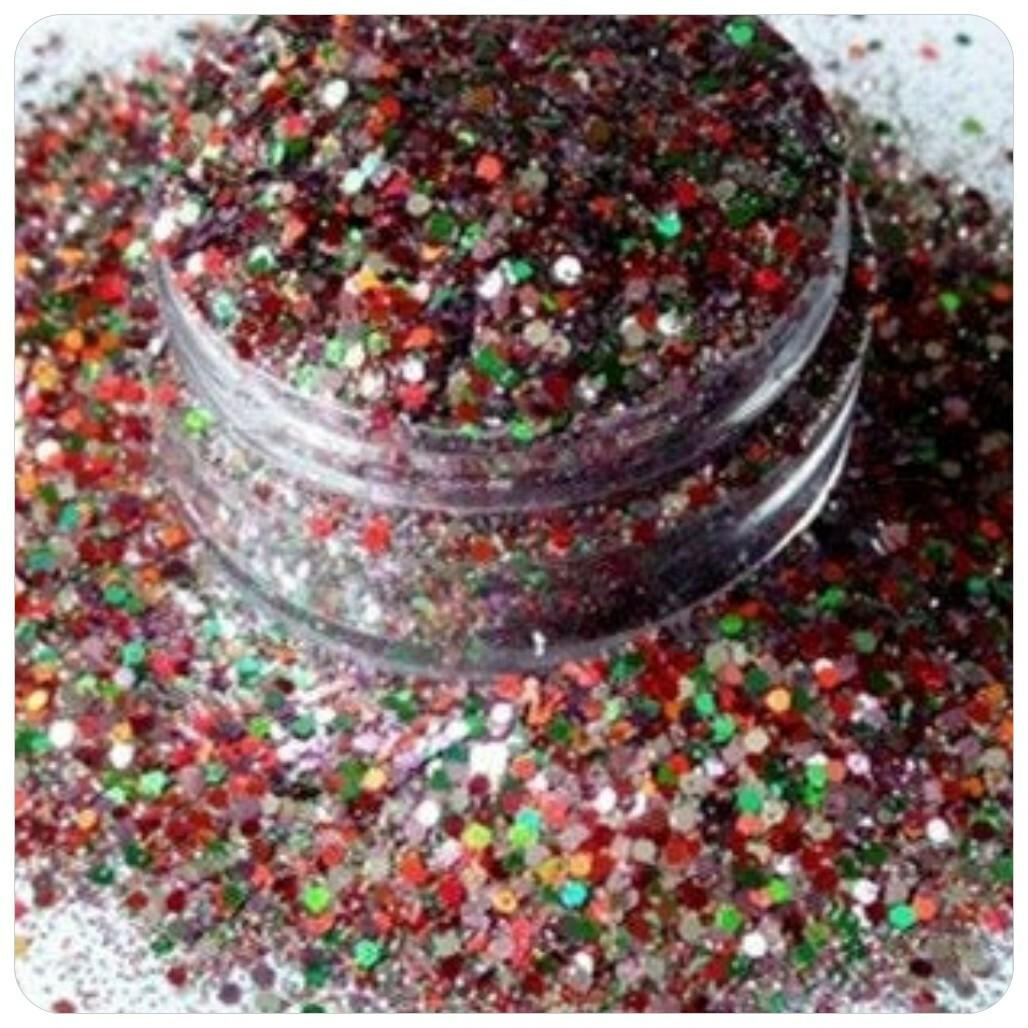 CANDY CANE CRUNCH CHRISTMAS Chunky Glitter Mix