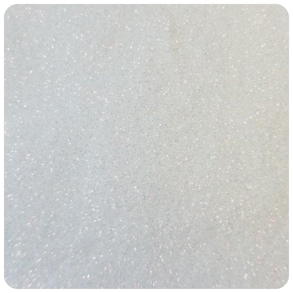 WHITE Iridescent Rainbow Extra Fine Polyester Glitter