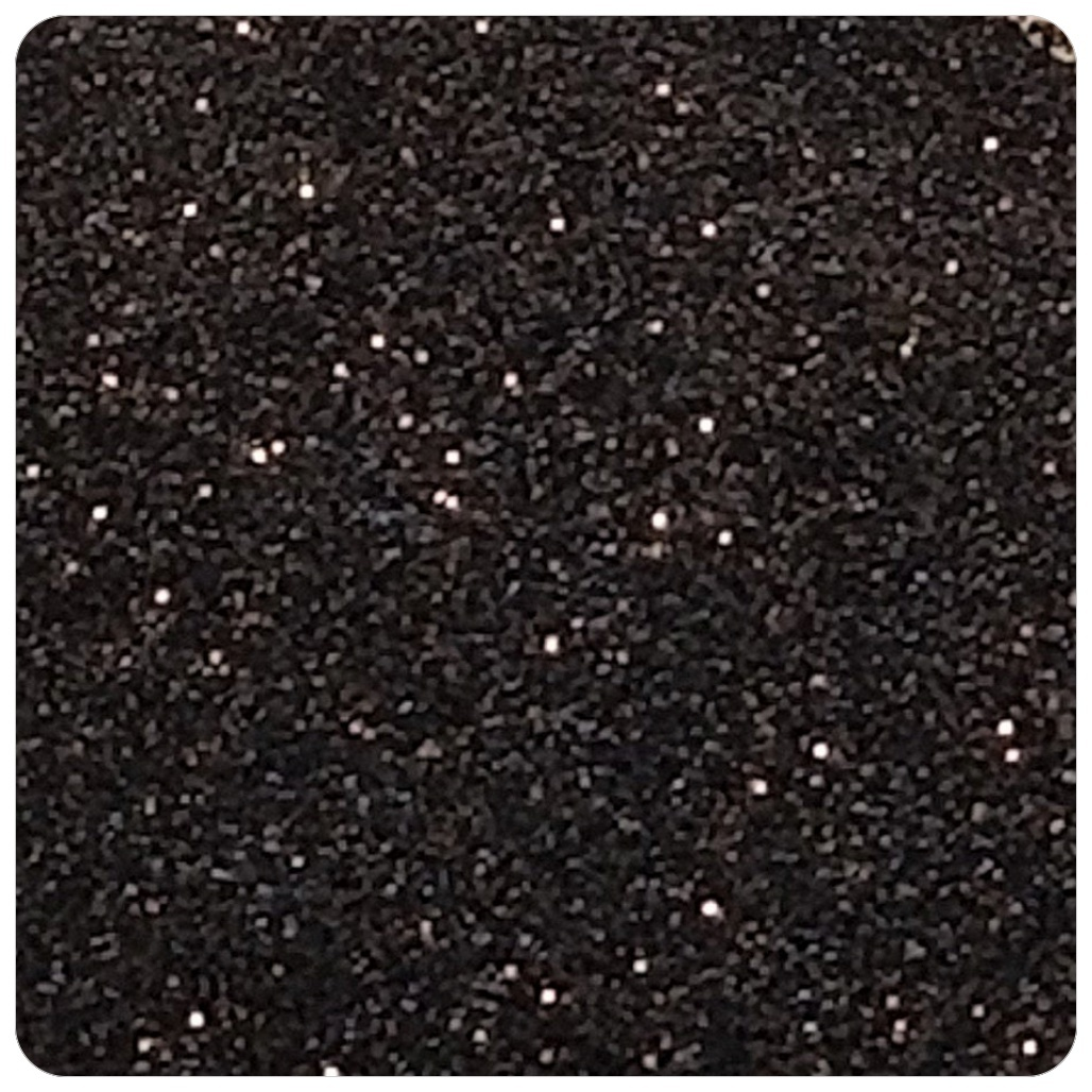 Black Extra Fine Polyester Glitter