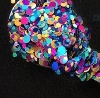 Atomic Rainbow Glitter Dots