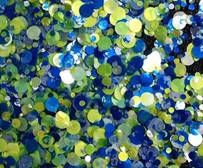 Sea Glass Glitter Dots