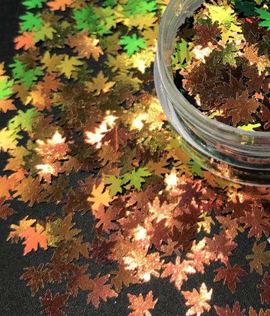 Maple Leaf  Fall Leaf Chameleon Colour 5mm