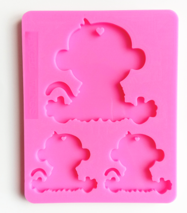 Monkey family silicone mold