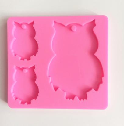 Owl family silicone mold