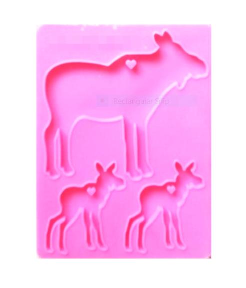 RAINDEER FAMILY silicone mold