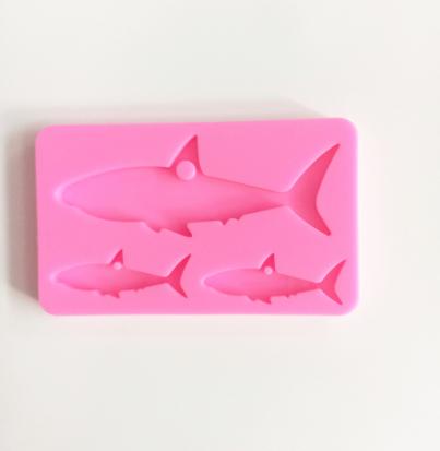 Shark family silicone mold